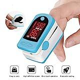 HMY Pulsoximeter, Finger Pulsoximeter Digital-Sauerstoffmessgerät Clip Typesensor OLED-Display...