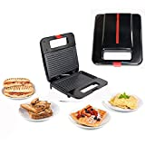 OOFAT Crepes Maker, Sandwich Toaster, Grill Mit Temperaturregelung, 4-Scheibe Extra Large Sandwich...
