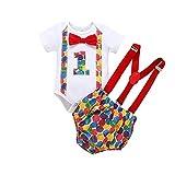 Neugeborenes Outfits Set Baby Junge Kurzarm Strampler Fliege Arbeitskittel Kleidung Set Einjährige...