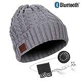 Bluetooth Beanie, Drahtlose Bluetooth V5.0 Beanie Gestrickte Wintermütze Headset Lautsprecher...