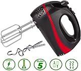Turbo Handmixer | 300 Watt | 5 Stufen | Turbofunktion | Handrührer | Stabmixer | Hand Mixer |...