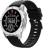 DHTOMC Damen Herren Smartwatch Fitness Tracker mit Display Bluetooth Anruf Aktivitätstracker 1,28...