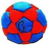 Pro Hacky Sack 32 Paneelen (Blau/Rot) Profi Freestyle Footbag! Hacky Sack fr Anfnger und Profis,...