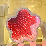 Intelligentes Licht Nachttischlampe Novetly Time Tunnel LED-Licht-Dekoration-Nachtlicht (Color : Red...