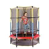 RTGRCH 6 Feet Children s Trampoline Household Children s Kids Indoor Bed with Protecting Wire Net...