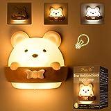 LED Nachtlicht Kinder, Nachtlicht Kind, Nachttischlampe Baby, Tragbare USB Aufladen Nachtlampe...