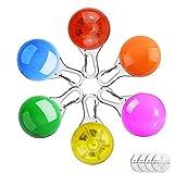 Homeet 6 Pcs Sicherheits Clip-On LED Blinklicht Hunde LED Licht Leuchtanhänger Schlüsselanhänger...