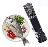 GUOGEGE Elektro Fischentschupper, 304 Edelstahl Fischschaber Elektrische Entferner, Entschupper...