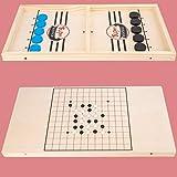 YXYLD Schnelles Sling Puck-Spiel, Holzschach-Kinderspiel für Kinder zum Lernen,...