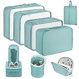 Newdora Packing Cubes, 8 Teilig Koffer Organizer, Kleidertaschen für Koffer Kleidung Kosmetik...