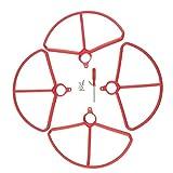 Toygogo 4er Set Stodmpfer Schutzring fr HS700 Drohne, aus Kunststoff - Rot