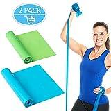 OMEW Fitnessbänder 2 Stück 1,5m Länge Elastisch Gymnastikband Übungsbänder Fitness Bänder...