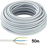 Mantelleitung NYM-J 3x1,5mm² Kabel | 50m Ring, 3 adriges Installationskabel