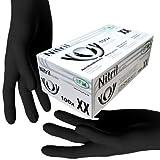 SFM  BLACKLETS Nitril : XS, S, M, L, XL schwarz puderfrei F-tex Einweghandschuhe Einmalhandschuhe...