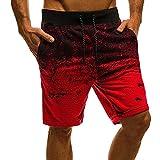 Herren Casual Shorts Modedruck Jogging Shorts Sporthose Sommer Kordelzug Hip-Hop Slim Sport Shorts...