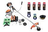 BENZIN RASENTRIMMER DEMON 5,2 PS Set mit 4 x Flaschen Öl 2 x Fadenkopf 2 x Faden - Motorsense...