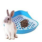 RETYLY Kaninchen-Klo, Kleines Tier-Toiletten-Eck-Töpfchen, Haustier-Klo, Eckschale für Kaninchen,...