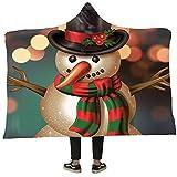 TianTian Tat Herren Christmas Series Print Kapuzendecke Weihnachten Winter-Plüsch-Wearable Umhang...