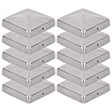 VIIRKUJA 10 x Edelstahl Pfostenkappe für Zaunpfosten (101x101mm) | Pyramiden Form | Abdeckkappe...