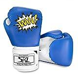SKL Kinder Boxhandschuhe, Pu Kinder Kinder Cartoon Sparring Boxhandschuhe Training Alter 5-12 Jahre...