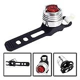 XUBF-CHE, LED-Fahrrad-Taschenlampe aus Aluminium, Fahrradhelm, Vorderlicht, Rücklicht, Zubehör...