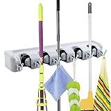 Happyshop Mop- und Besenhalter für Gartenwerkzeuge, Mehrzweck-Wandmontage, Regal,...