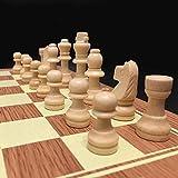 CKY Holzschachspiel Backgammon Checkers 3 in 1 Reiseschachspiel Holzschachfiguren für Kinder...