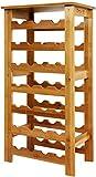 Dripex Weinregal Bambus Weinflaschenregal 7 Ebenen Flaschenregal Holz für Keller Küche 27 Flaschen...