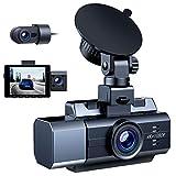 Campark 3 Lens Dashcam Vorne und Hinten, 4K+Dual 1080P Autokamera mit Superkondensator, 24/7...