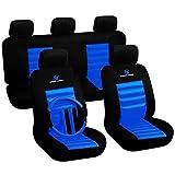 WOLTU 7264 Schonbezug Schonbezüge Auto SPORTS SERIERS Polyester universal, blau