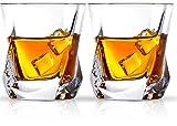 Cooko Whisky Gläser, Luxus Kristall Gläser Set, Non-Leaded Clarity Whiskyglas, Wein Zubehör,Set...