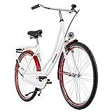 KS Cycling Hollandrad 28'' Tussaud weiß-rot singlespeed RH 49 cm