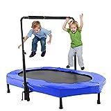 ANCHEER Kindertrampolin, Garten Trampolin fr Zwei Kinder Indoor/Outdoor zusammenklappbar mit...