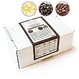 Sweet Wishes 900g Fondue-Schokolade aus Belgien Schoko-Mix aus Vollmilch, Zartbitter & Weiß - für...