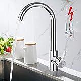 WOOHSE Niederdruck Armatur Küche, 360° Schwenkbar Küchenarmatur Wasserhahn Niederdruck,...