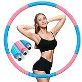 DUTISON Hula Hoop Reifen 1,2kg, Hula Hoop Upgrade Version 90% Stabilität, 8 Knoten Abnehmbares...