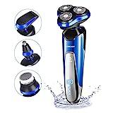 Wasserdichte Elektrorasierer von HOMEASY Nass- und Trockenrasierer Herrenrasierer USB Rasierapparat...