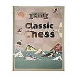 JJH 15-in-1-Platine-Spielset, einschließlich Schach- / Kontrollkästchen/GOBANG, intellektuelles...