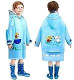 Maeau Regenponcho Jungen Kinder 104-110 Regenjacke Regenmantel Kinder Wasserdicht Regencape Kinder...