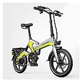 TOYSSKYR Strong Bike Zusammenklappbares Elektrofahrrad, 16-Zoll-Elektrofahrrad 400 W Mit...