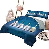 3 Stück Quilt Set Twin Size Anna Schlafzimmer Dekoration Bett Set Geburtstag Kerzen Name
