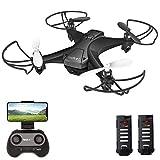 tech rc Drohne mit Kamera HD FPV RC Mini Drone mit 2 Akkus 2.4Ghz Ferngesteuerte Quadrocopter...