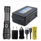 8000lm Hochleistungsfhige Taktische LED-Taschenlampe Taschenlampe CREE XHP70.2 18650 26650...