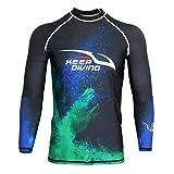 Herren Rash Guard UV-Schutz UPF 50+ Badeshirt Langarm Neoprenanzug Shirt Schwimmanzug Suft Shirt...