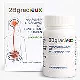 2Bgracieux Nahrungsergänzung, Auswahl hochdosierter Bakterien-Kulturen, Darmbakterien zur...