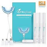 Teeth Whitening Kit Zahnaufhellung Set, BESTOPE Hochwertig 24X LED Licht mit 3 Zahnaufhellung Stifte...