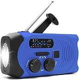 PBQWER Solar Handkurbel Notradio Mit Eigener Stromversorgung Und LED-Taschenlampe AM/FM-Radio...