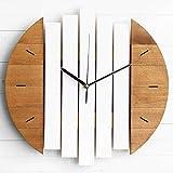 XUZHUO Stille Xylophon Holzwanduhr modernes Design Vintage Landuhr ruhige Kunst Uhr Home Dekoration