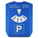 Parkscheibe, NLD/DE/F/GB, mit Eiskratzer und 2x Einkaufswagenchip, blau, Kunststoff, Parkuhr, Auto,...