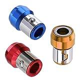 6,35 mm Schraubendreher-Bit, magnetischer Ring, magnetisierender Ring, Metall, rot, gelb, blau,...